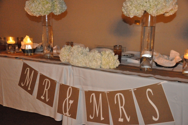 Wedding Party Table - Candle light