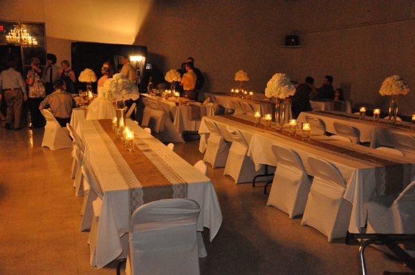 Reception tables with candle light
