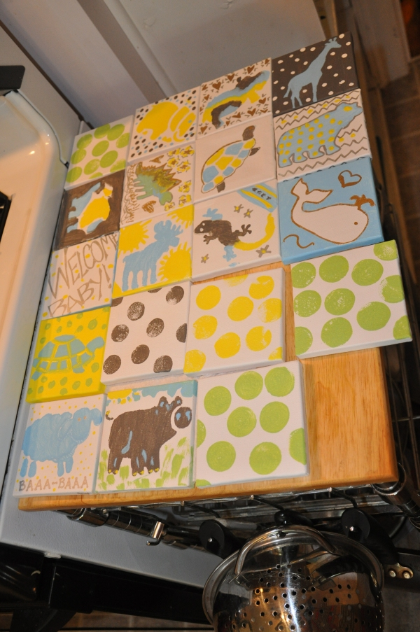 The finished canvases
