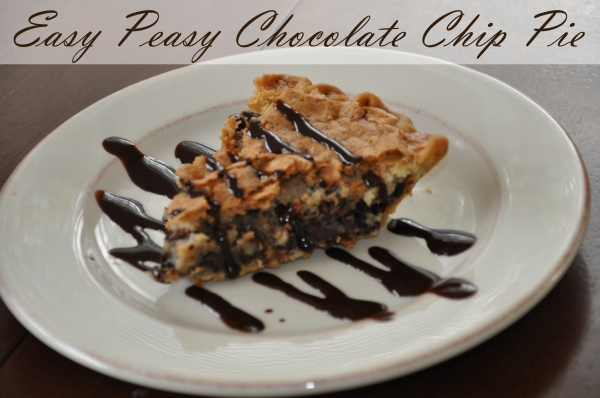 Easy Peasy Chocolate Chip Pie