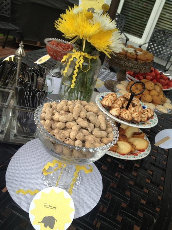 Little Peanut Shower Food Table