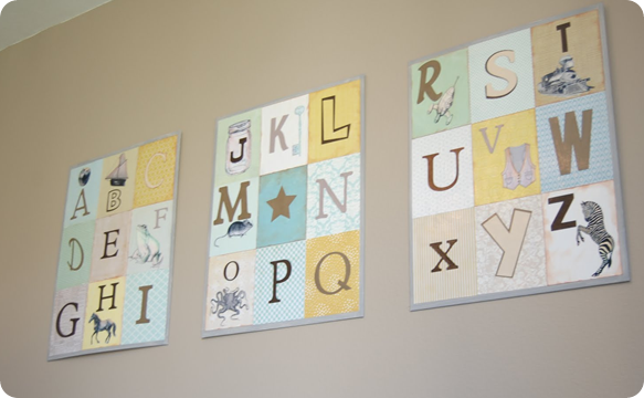 ABC Nursery Artwork from Knock Off Decor