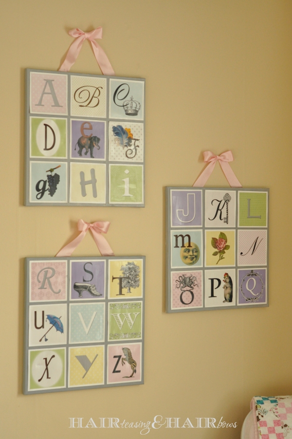 Pinterest-Inspired ABC Nursery Artwork