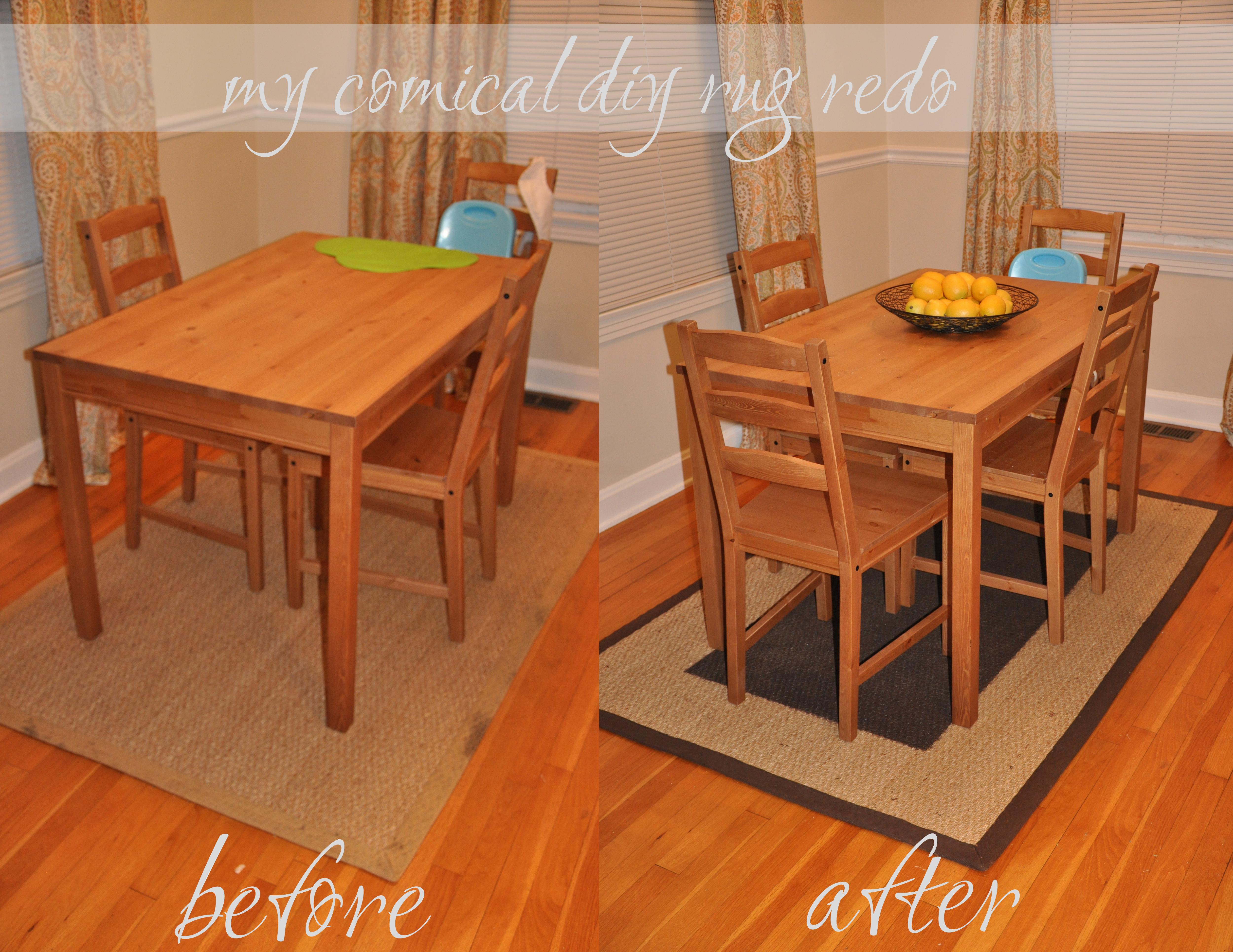 My comical diy rug redo hair teasing hair bows - Kitchen table redo ...