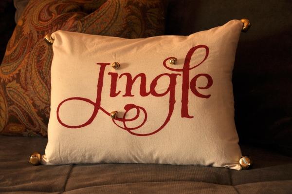 Pottery Barn Inspired Jingle Pillow